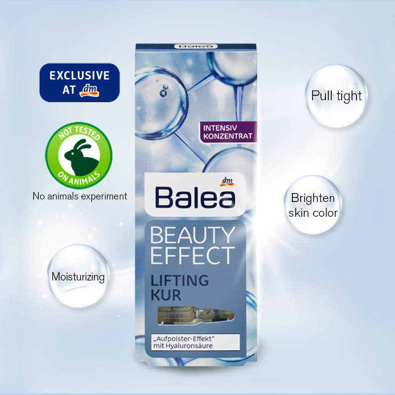 Original Germany Balea Hyaluronic Acid serum Beauty Cream Anti Blackheads For Liquid Skin Protein Cosmetics Essence injection germany balea beauty effect wrinkle filler hyaluronic acid serum moisturizing essence lifting effect vegan paraben free