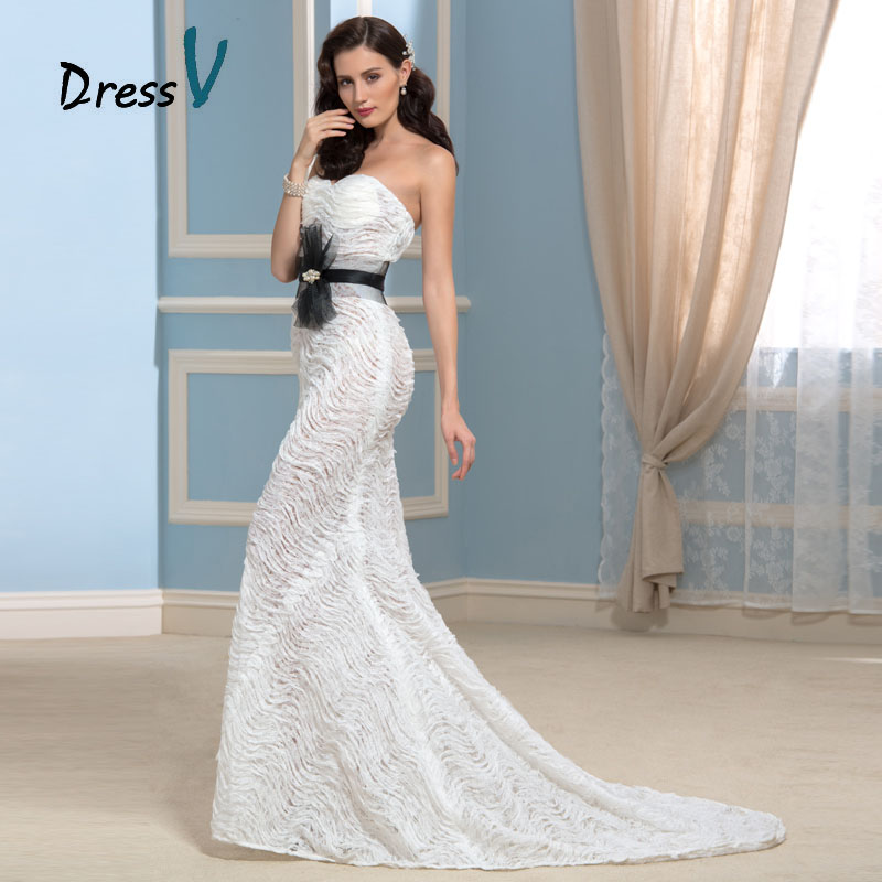 Awesome Black And White Lace Wedding Dresses Pictures - Styles ...