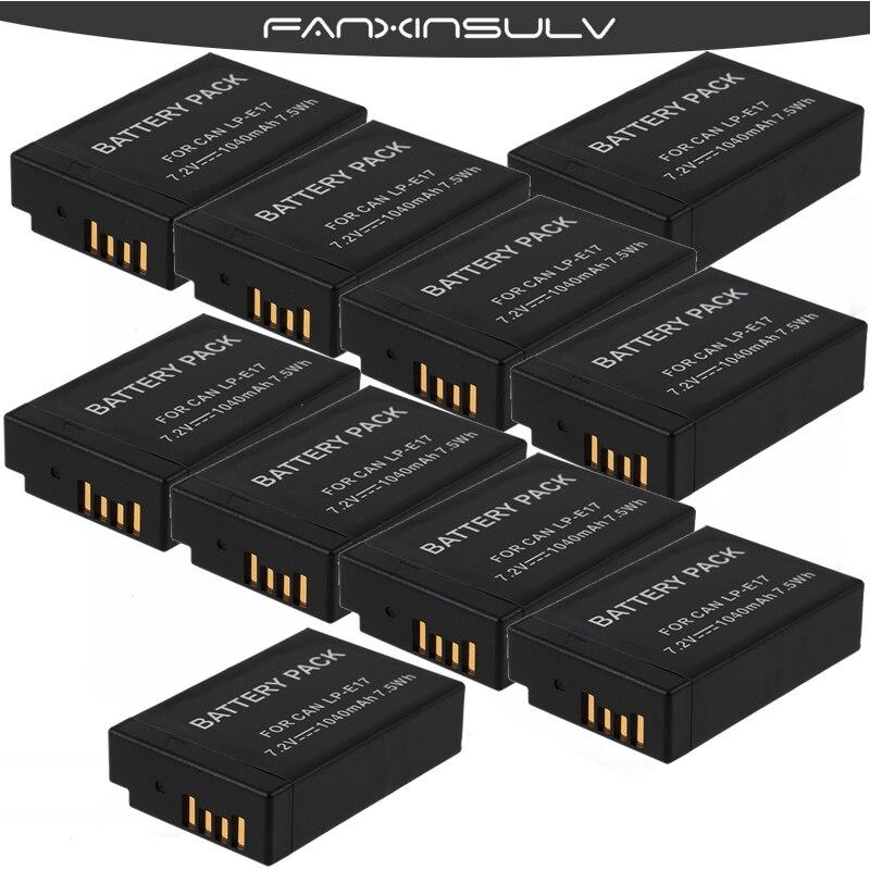 10 Pcs LPE17 LP E17 LP E17 Batteries Camera Battery for Canon EOS 200D M3 M5 M6 77D 750D 760D T6i T6s 800D 810D 8000D Kiss X8i