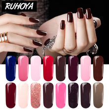 Losweken Reukloos Organische UV Gel Semi Permanente Lucky Nagels Gel Varnish Art Led Lamp Nagellak 29 Kleuren UV gel Nagellak(China)