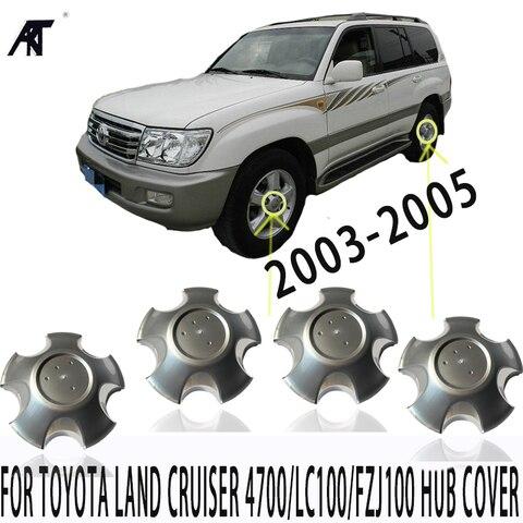 4pcs aro da roda centro caps para toyota land cruiser 4700 lc100 fzj100 2003 2005
