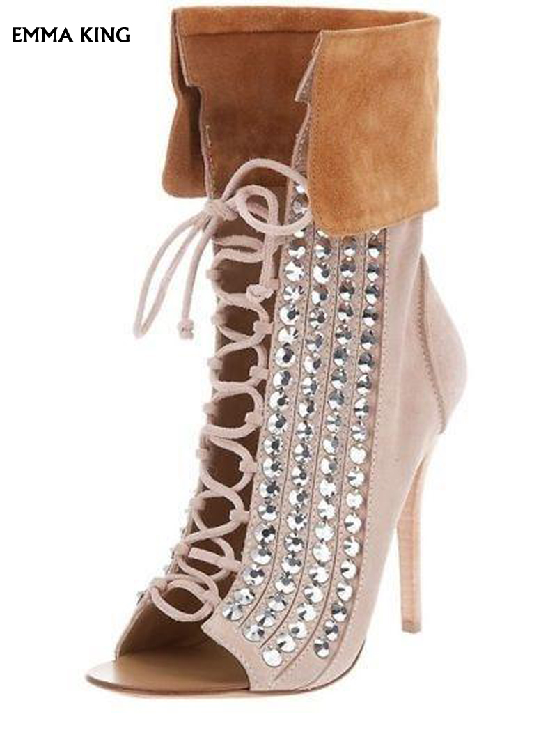 Chaussures Talon As Femmes Pour Cristal Offre Suede Date out Nouveau Cut Botas Mince Qualité Luxe Spéciale Chaussons Sexy Supérieure Mode Pic Bottines Qrhstd
