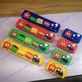 Con un solo orificio/Paso de Agujeros de 96mm de Dibujos Animados Muebles Soft Niños Carbinet Manijas Del Cajón Kids Knob Tirones Red Train Diseño, bebé mando