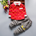 Boys Clothing Set Autumn Kids Clothes Fashion Costume Eye Print Shirt + Pants Suit Outfit Toddler Boys Tracksuit School Clothing