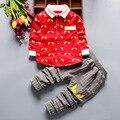 Meninos Conjunto de Roupas de Outono Crianças Roupas Da Moda Traje Olho Impressão da Camisa + Calças Outfit Terno Criança Meninos Agasalho Roupa Da Escola