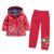 Moda mezcla de algodón de nylon impermeable chaqueta y niños pantalones impermeables del niño muchacha de los niños que arropan sistemas