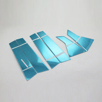 Car Styling Stainless Steel Window Middle Frame Trims For Honda Civic 2016 Car Decoration Accessories