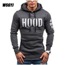 Moleton Masculino 2017 Slim Hoodies Men Sweatshirt Long Sleeve Pullover Hooded Sportswear Men'S Letters Printed Tracksuit S-XXL