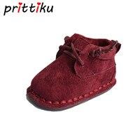 Bebê Da Menina do Menino Sapatos Recém-nascidos Sapatos Botas Infantis Botas 4 Cores Suaves de Fundo Pré-walker Botas Couro de Porco