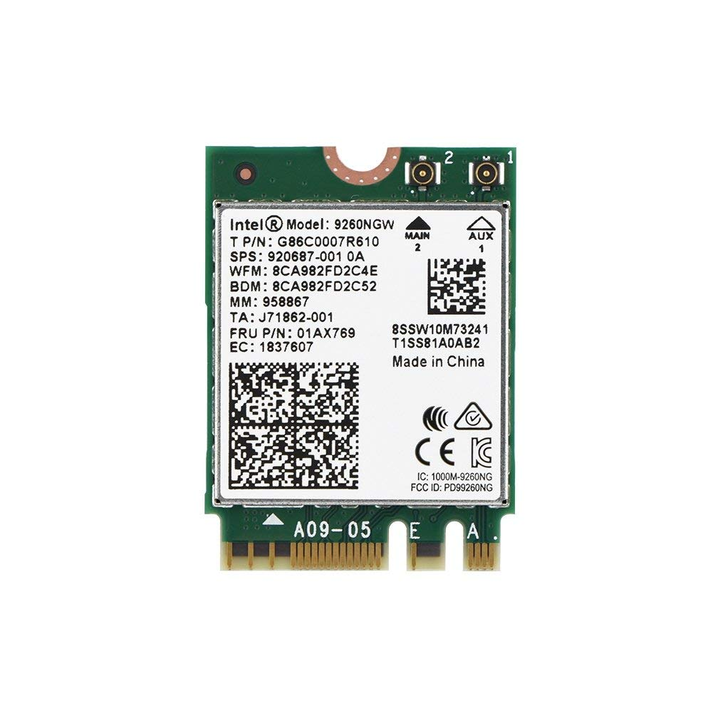 1730Mbps High Speed 2.4G+5G Dual-Band <font><b>802.11ac</b></font> WiFi Bluetooth 5.0 <font><b>Module</b></font> Wireless Card For Intel 9260NGW NGFF Wireless Wifi Card image
