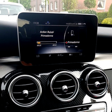 For Mercedes Benz C class W205 GLC 200 260 2015-2017 Center Control Navigation Screen Protection Trim Panel Car Styling