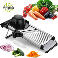 Mandoline Slicer with Free Brushes Stainless Steel Slicer Vegetable Potato Onion Food Slicer for Kitchen