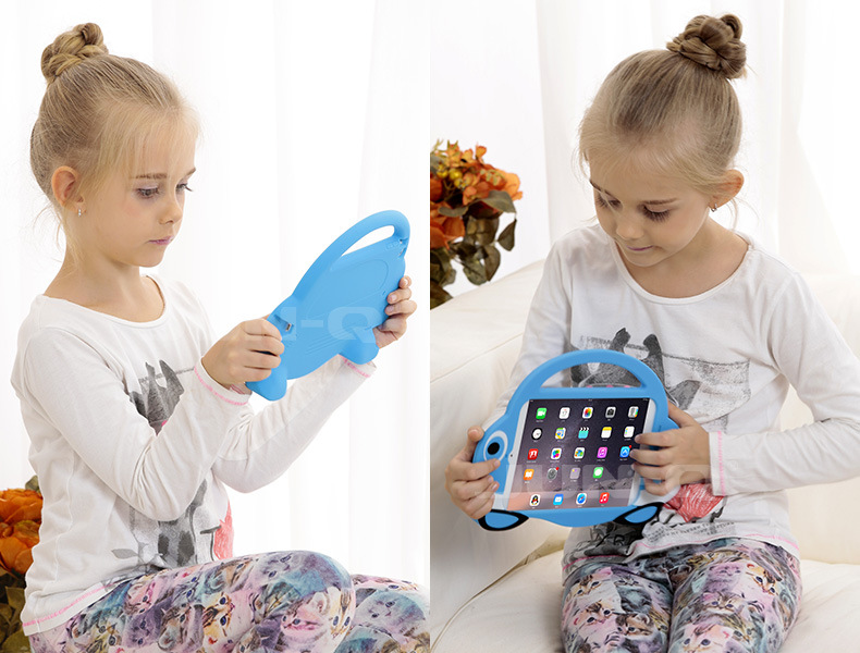 New 3D Fish Mouth Style Soft Silicone Case Cover Hand-bring For Apple iPad mini 1 2 For Ipad mini 3 Tablets Protective Cases