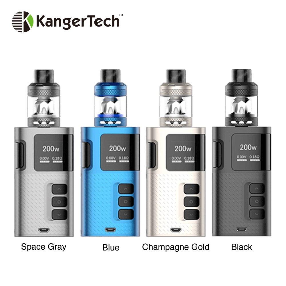 Electronic Cigarette Starter Kit Original Kangertech Ripple 200W Box Mod Temperature Control with Ripple Tank 3