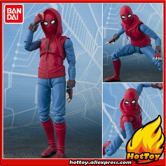 Original BANDAI Tamashii Nations S.H.Figuarts SHF Exclusive Action Figure - Spider Man [Home Made Suit] Spider-Man: Homecoming 100% original bandai tamashii nations s h figuarts shf action figure spider man homecoming