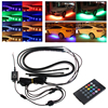 1Set RGB LED Strip Under Car Tube Underglow Underbody Glow System Neon Light Remote