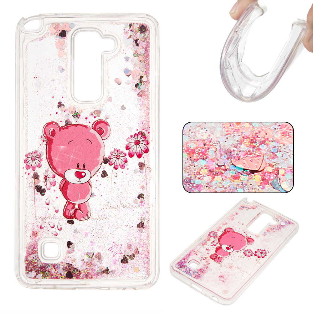 best sneakers 5776f 54239 US $2.65 29% OFF|For LG Stylus 2 K520 K520DY Dynamic Liquid Glitter Cases  Quicksand Soft TPU Cases for LG G Stylo 2 LS775 Back Cover-in Half-wrapped  ...