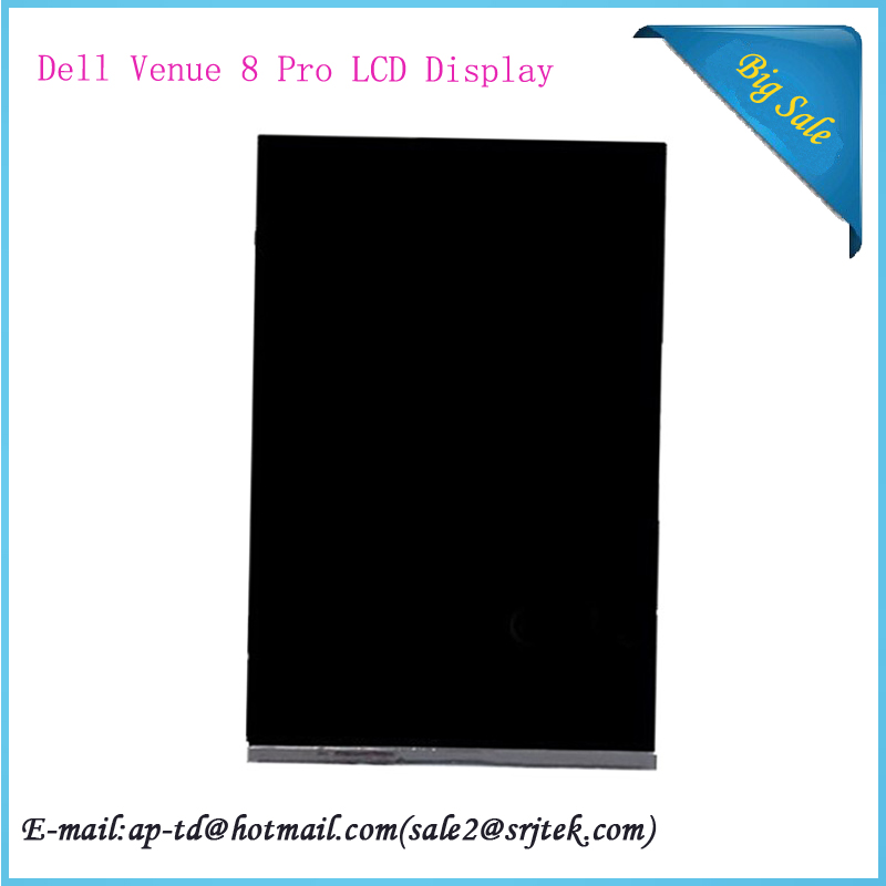 High Quality 8'' For Dell Venue 8 Pro LCD Display Screen Replacement Parts Tablet Pc+Free Shipping high quality assembly tablet pc for dell