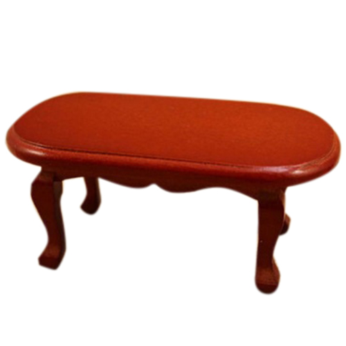 1:12 Dollhouse Miniature Coffee Table Living Room Furniture Doll House Red Table