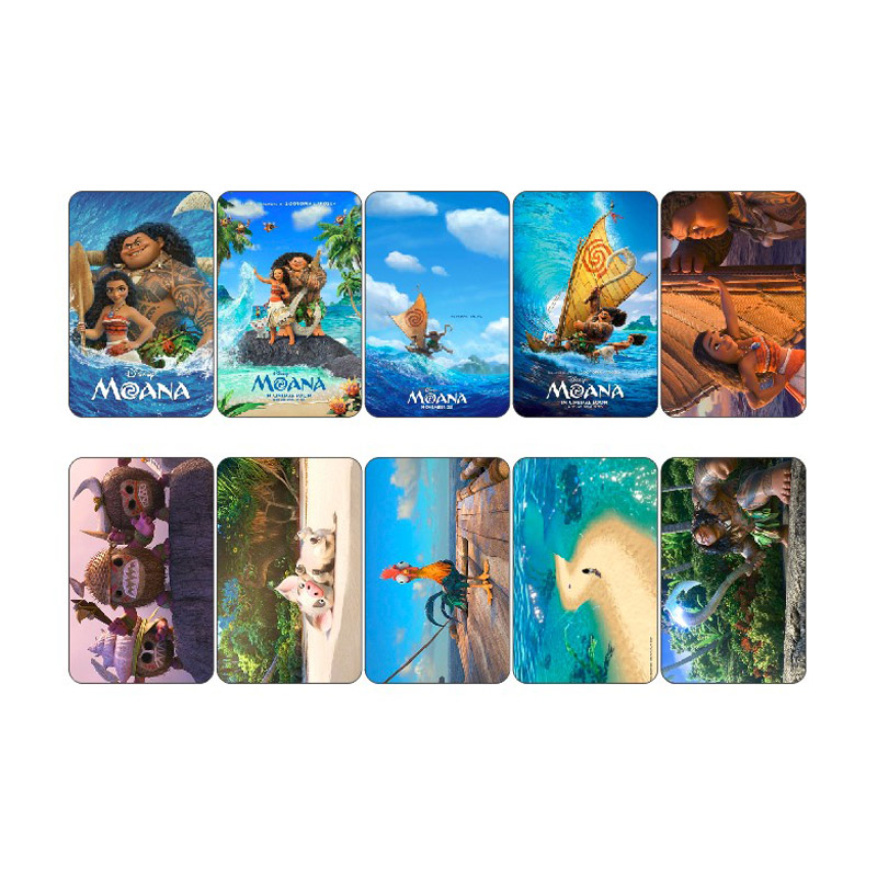 Impartial 10 Pcs/lot Moana Anime Movie Card Poster Collectibles Sticker Pack Post It Scrapbooking Credit Bank Bus Id Card Stickers Stationery Stickers