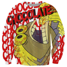 Новый fahsion шоколад письма джемпер мультфильм iest рыба 3d толстовки женщины / мужчины осень верхняя одежда спортивный костюм