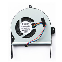 New Cpu Fan For Asus N552 N552V N552VX N552VW N552VM Cpu Cooling Fan EG75070S1-C130-S9A(China)