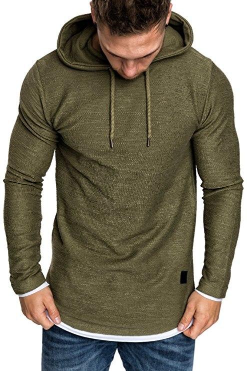Новинка 2018 г. Модные Для мужчин бренд Повседневное Для мужчин Толстовка Solid Цвет Толстовка 328 #