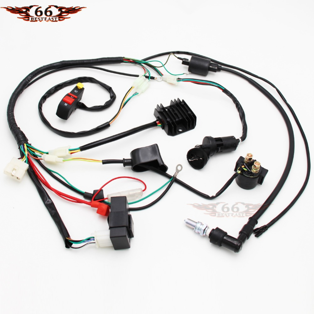 Complete Electrics Wiring Harness Chinese Dirt Bike For 150 250cc D8ea Spark Plug Cdi Ignition Coil Kits 150cc