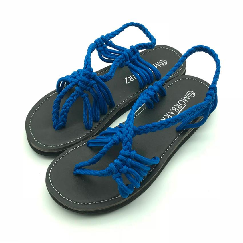 57d77f8b4 2018 New Fashion Shoes Flat Women Sandals Ladies Summer Sexy Slippers Nylon  Rope ...