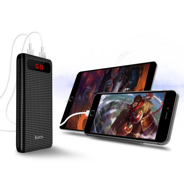 Universal Portable External Plastic Dual USB Power Bank