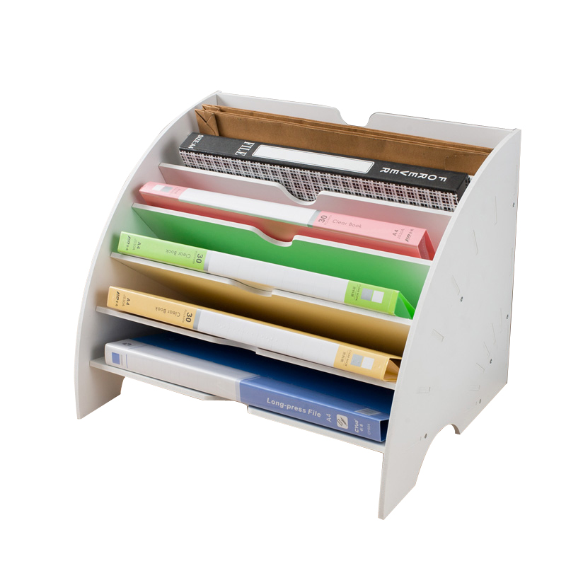 A4 Magazine Holder Organizers File Storage Box Desk Accessories File Holder Multi-function White Magazine Organizer