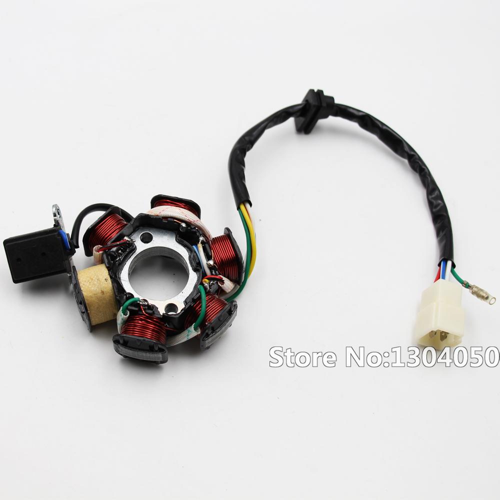 Magneto Stator 50cc 70cc 90cc 110cc 125cc Engine ATV Quad Go Kart with 6-coil 5-wire NEW