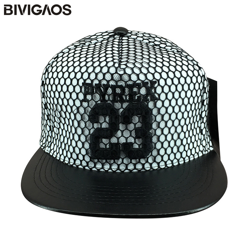 Fashion Snapback Caps Truckfit 23 Letters Embroidery Mesh Hip Hop Cap Leather Brim Hats Baseball Caps Men Women Chapeau Gorras baby skullies boys caps headwear chapeau beanies