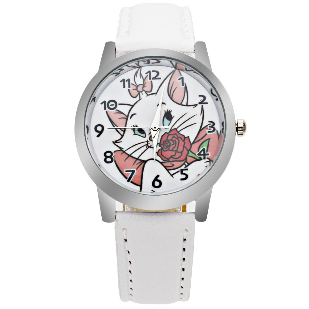 Luxury Brand Children's Watch Kitten Cartoon Boy Quartz Clock Students Christmas Relogio Watch Casual Girl Leather Watch