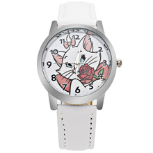 Luxury Brand Children's Watch Kitten Cartoon Boy Quartz Clock Students
