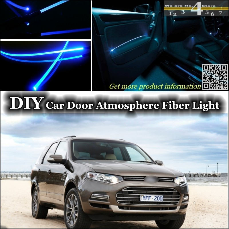 For Ford Territory interior Ambient Light Tuning Atmosphere Fiber Optic Band Lights Inside Door Panel illumination Not EL light