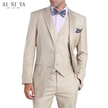 mens 3 piece suits Fashion Groom Tuxedo Slim Fit Men's Wedding Suit Groomsman Best man Suits