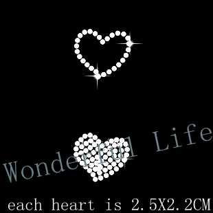 Ücretsiz kargo 6 adet/grup sıcak düzeltme motif rhinestone transferi demir on motif toptan fiyat aşk kalp giyim