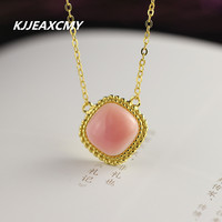 KJJEAXCMY S925 Sterling Silver Jewelry Fashion Exquisite Ladies Queen Bei Necklace Summer New Gold Plated