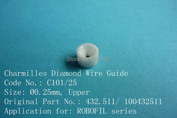 Charmilles 432.511/ 100432511  C101 D=0.25mm    Diamond Wire Guide with Ceramic Housing for WEDM-LS Machine Parts
