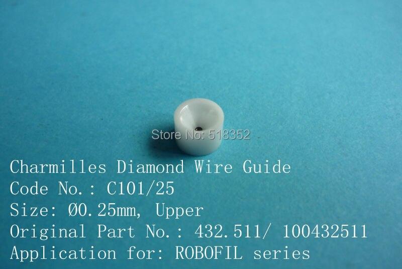 Charmilles 432.511/100432511 c101 d = 0.25mm diamante filo guida con alloggiamento in ceramica per parti wedm-ls macchinaCharmilles 432.511/100432511 c101 d = 0.25mm diamante filo guida con alloggiamento in ceramica per parti wedm-ls macchina