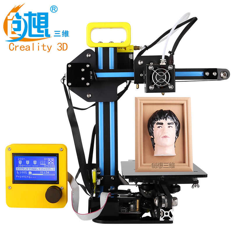 Newest Mini Version Desktop Level Creality CR-7 3D Printer  Cheap DIY 3 D Printer Kits Gift:Filament SD Card Tools Free Shipping 2017 newest tevo tarantula 3d printer impresora 3d diy impressora 3d with filament micro sd card titan extruder i3 3d printer
