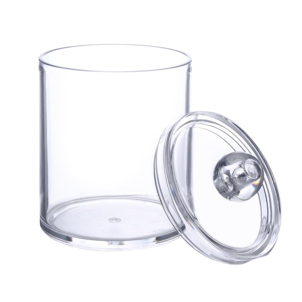 Acrylic Storage Container for Makeup Cotton Pads and Cotton Swabs 3