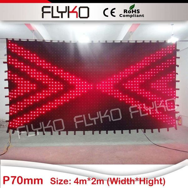 Free shipping 2m by 4m P70MM LED Star Cloth Wedding Backdrops Led Cutain|led star cloth|star cloth|led backdrops - title=