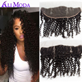 13x4 Ear to Ear Brazilian Virgin Hair Deep Curly Lace Frontal Closure 8A Brazilian Virgin Hair Curly Frontal Closure Human hair