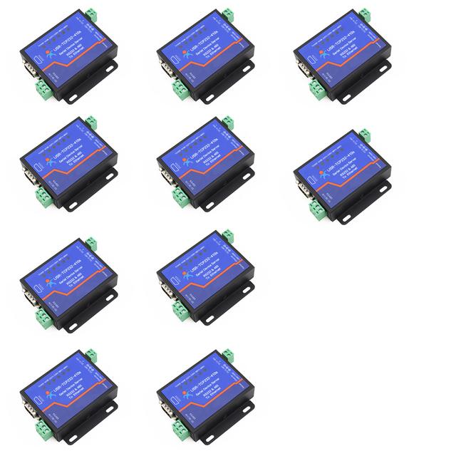 Q18039-10 10 PCS USR-TCP232-410S Terminal de fonte de Alimentação Conversor Serial RS232 RS485 para TCP IP Ethernet Dispositivo Serial Servidor