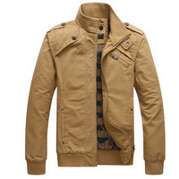 Kış Ceket erkek Rahat Ceket Pamuk Standı Yaka Mont Ordu Askeri Outdoors erkek Erkek giyim palto