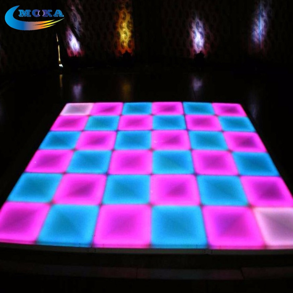 48Square meters LED Effect Dance Floor LED DJ Stage Dance Floor Projector Dance Floor For NightClub