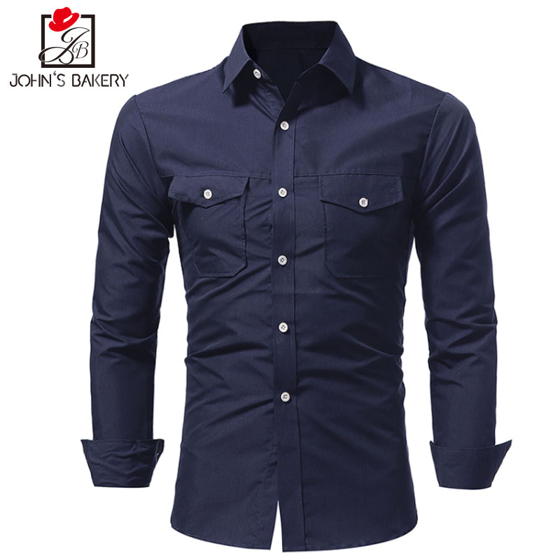 Men Shirt 2017 Spring New Brand Three Styles Business Men S Slim Fit Dress Shirt Male