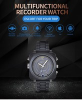 Sport outdoor camera smart watch with mobile phone connect app cctv ip camera watch for recording good viewing
